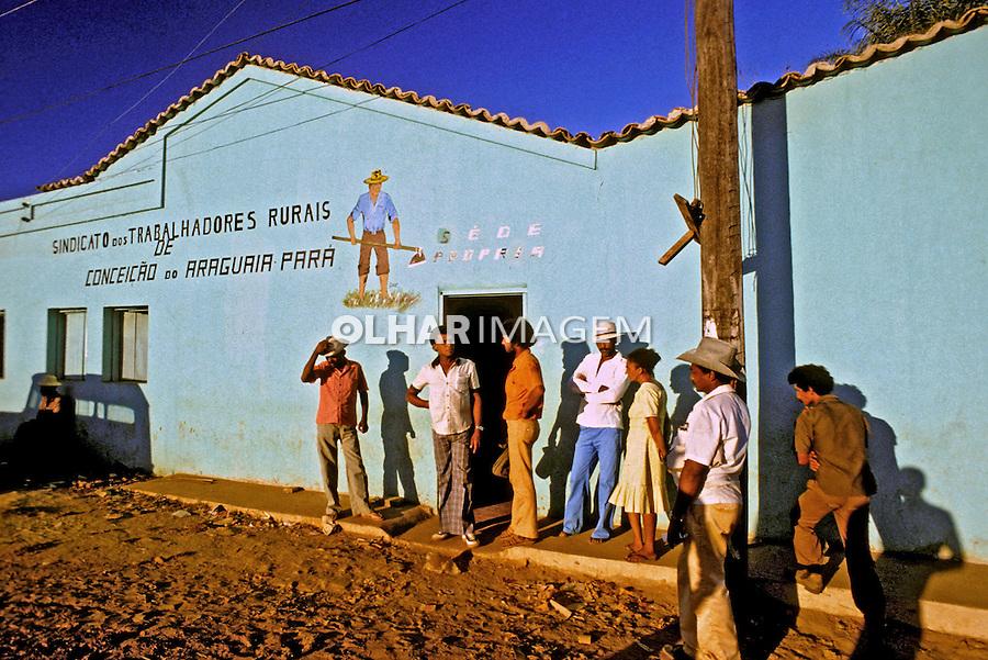 Sede do Sindicato de Trabalhadores Rurais em Conceição do Araguaia. Pará. 1980. Foto de Juca Martins.     .
