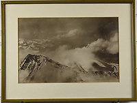 BNPS.co.uk (01202 558833)<br /> Pic: StroudAuctions/BNPS<br /> <br /> Pictured: The sale also included Somervell's photographs. - Photograph taken by Somervell from Mount Everest during the 1922 expedition, looking West from Everest at 27,000 feet, the highest photograph ever taken at the time.<br /> <br /> Fascinating art work by a British mountaineer who twice climbed Mount Everest have sold at auction a century later for over £30,000.<br /> <br /> Theodore Howard Somervell took part in pioneering expeditions to the Himalayas in 1922 and 1924.<br /> <br /> He got to within 1,000ft of the summit, the highest point reached at that time, despite not using an oxygen tank.<br /> <br /> The skilled artist produced dozens of watercolours and sketches of the scenes he witnessed, including glacial peaks and camp life.<br /> <br /> His works sparked a bidding war when they were sold by a direct descendant with Stroud Auctions, of Gloucs.  An oil on canvas painting of Everest base camp in 1922 sold for £7,500, almost 40 times its estimate.