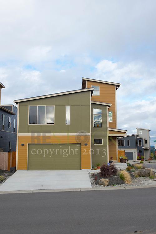 Green and Orange Modern Home