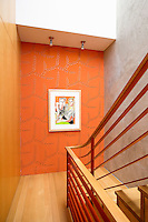 modern wooden staircase