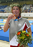 Andréa Cole fromThunder Bay Ontario, performing for bronze medal in Athènes<br /> (Benoit Pelosse photographe,19 sept 2004)