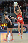Wales Nia Jones  <br /> <br /> Swansea University International Netball Test Series: Wales v New Zealand<br /> Ice Arena Wales<br /> 08.02.17<br /> ©Ian Cook - Sportingwales