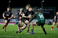 27th December 2020 | Connacht  vs Ulster <br /> <br /> Nick Timoney is tackled by John Porch during the Guinness PRO14 match between Connacht and Ulster at The Sportsground in Galway. Photo by John Dickson/Dicksondigital