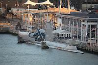 Blick auf das U-Boot am Intrepid Museum
