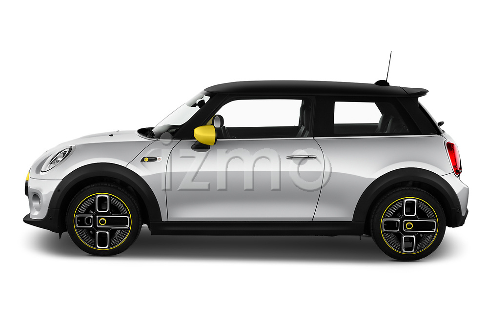 Car Driver side profile view of a 2020 MINI MINI-Electric Cooper-SE-L 2 Door Hatchback Side View