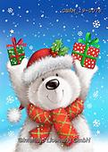 Roger, CHRISTMAS ANIMALS, WEIHNACHTEN TIERE, NAVIDAD ANIMALES, paintings+++++,GBRM19-0078,#xa# ,sticker,stickers ,ice bear,polar bear