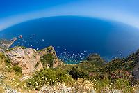 Amalfi coast and Capri Island wonders, Campania region of Italy.