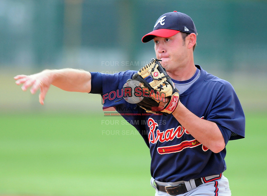 17 March 2009: Matt Young of the Atlanta Braves at Spring Training camp at Disney's Wide World of Sports in Lake Buena Vista, Fla. Photo by:  Tom Priddy/Four Seam Images