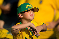 A young Brazil football fan
