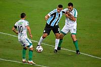 PORTO ALEGRE, RS, 22.04.2021 - GREMIO - LA EQUIDAD – O atacante Diego Souza, da equipe do Grêmio, na partida entre Grêmio e La Equidad, pela primeira rodada da Copa Sul Americana, no estádio Arena do Grêmio, em Porto Alegre, nesta quinta-feira (22).