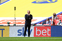 Steve Cooper Head Coach of Swansea City during the Sky Bet Championship Play Off Final match between Brentford and Swansea City at Wembley Stadium in London, England, UK. Saturday 29 May 2021