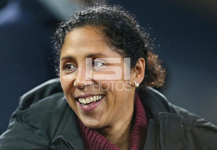 24.11.2017, Football Frauen Laenderspiel, Germany - France, in der SchuecoArena Bielefeld. Bundestrainerin Steffi Jones (Germany)  *** Local Caption *** © pixathlon +++ tel. +49 - (040) - 22 63 02 60 - mail: info@pixathlon.de<br /> <br /> +++ NED + SUI out !!! +++