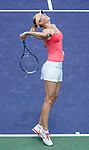 Maria Sharapova (RUS) loses  in the women's final at the Sony Ericsson Open in Key Biscayne, Florida on March 31, 2012.