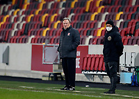 9th January 2021; Brentford Community Stadium, London, England; English FA Cup Football, Brentford FC versus Middlesbrough; Middlesbrough Manager Neil Warnock looks on from the touchline