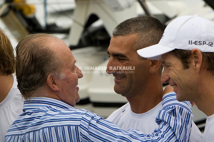 King of Spain. TELEFONICA RACING TEAM .Volvo Ocean Race leg 1 start in Alicante, Spain 11/10/2008 VOLVO OCEAN RACE 2008-2009