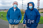 Taking a stroll in the Tralee Bay Wetlands on Saturday, l to r: Dinny Long and Dan F O'Brien.