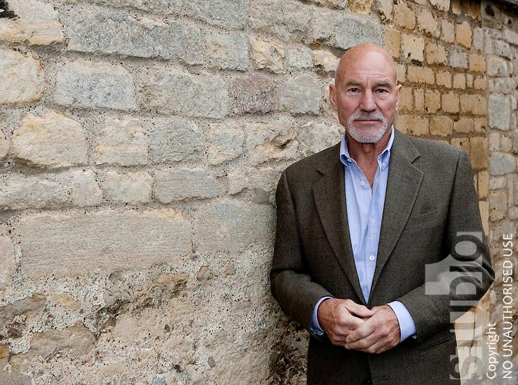 Patrick Stewart tours helston village with MP Barry Sheerman
