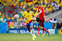 Fortaleza, Brazil - Tuesday, June 17, 2014: Mexico and Brazil are 0-0 ending the first half of World Cup group play at Estádio Castelão, <br /> <br /> 17/06/2014/MEXSPORT/ROBERTO MAYA <br />  <br /> Estadio Castelao, Fortaleza  , Ceara , Brasil
