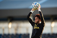 LAKE BUENA VISTA, FL - JULY 25: Pedro Gallese #1 of Orlando City SC catches the ball during a game between Montreal Impact and Orlando City SC at ESPN Wide World of Sports on July 25, 2020 in Lake Buena Vista, Florida.