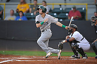 Beloit Snappers Michael Martin (6) swings during the Midwest League game against the Clinton LumberKings at Ashford University Field on June 11, 2016 in Clinton, Iowa.  The LumberKings won 7-6.  (Dennis Hubbard/Four Seam Images)