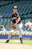 August 18 2008:  Zack Wheeler (28) of the Baseball Factory team during the 2008 Under Armour All-American Game at Wrigley Field in Chicago, IL.  Photo by:  Mike Janes/Four Seam Images