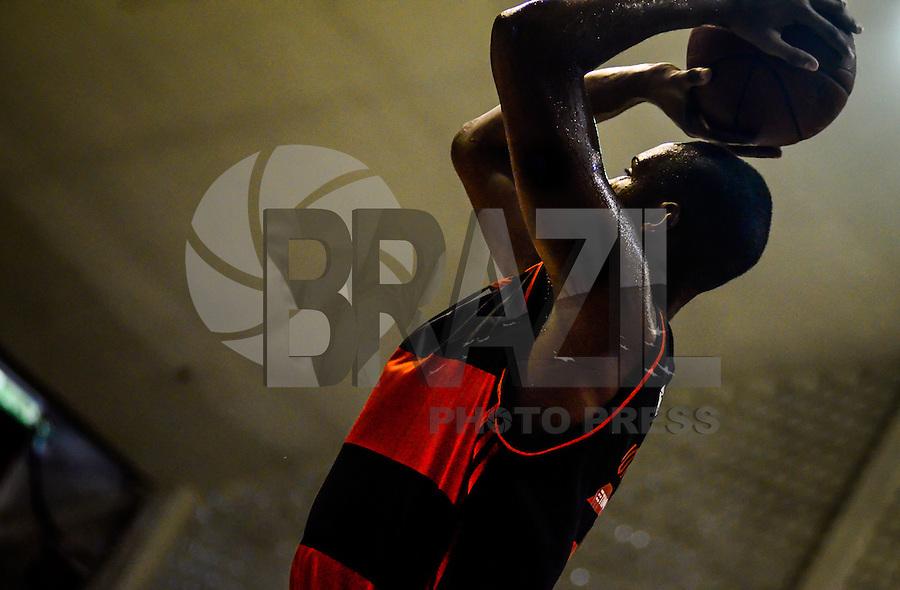 RIO DE JANEIRO, RJ, 27.12.2016 - FLAMENGO-CAXIAS - Lances de partida válida pela Liga Nacional de Basquete, no Ginásio do Tijuca Tênis Clube zona norte do Rio de Janeiro, na noite desta terça-feira (27). (Foto: Jayson Braga / Brazil Photo Press)