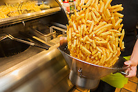 Europe/Belgique/Flandre/Flandre Occidentale/Bruges:  Friterie - Le Musée de la Frite, Friet Museum // Belgium, Western Flanders, Bruges: Frietmuseum in Bruges is the first and only museum dedicated to potato fries. Fritery, belgian fries