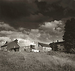 Scan of vintage print. Black and white farmscape in New Hampshire. 1976. Negative file#76-204. 1 of 1