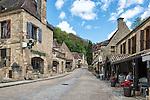 Street view in Beynac-et-Cazenac, a village on the Dordogne River in Perigord, France.