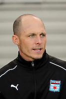 Chicago Red Stars goalkeeper coach Nathan Kipp. Sky Blue FC defeated the Chicago Red Stars 1-0 during a Women's Professional Soccer match at Yurcak Field in Piscataway, NJ, on June 17, 2009.
