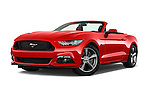 Stock pictures of low aggressive front three quarter view of 2016 Ford Mustang GT 2 Door Convertible Low Aggressive