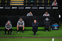Steve Cooper Head Coach of Swansea City shouts instructions to his team from the dug-out during the Sky Bet Championship match between Swansea City and Millwall at the Liberty Stadium in Swansea, Wales, UK. Saturday 03 October 2020