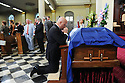 Mayor Landrieu says goodbye to former US Rep. Lindy Boggs during her funeral at St. Louis Cathedral, New Orleans, Aug. 1, 2013.