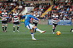 Andy Halliday scores from the spot and celebrates
