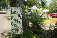 Local Kine Grinds offers tourists a taste of delicious local favorites along the roadside in Hana, Maui.