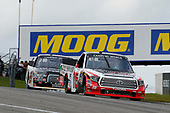 NASCAR Camping World Truck Series<br /> Chevrolet Silverado 250<br /> Canadian Tire Motorsport Park<br /> Bowmanville, ON CAN<br /> Sunday 3 September 2017<br /> Ryan Truex, Don Valley North Toyota / Weins Canada Toyota Tundra and Chase Briscoe, Cooper Standard Ford F150<br /> World Copyright: Russell LaBounty<br /> LAT Images