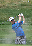 August 7, 2011:  Chris Riley hits out of a sandtrap during the Reno-Tahoe Open at Montrêux.