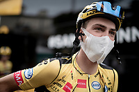 Sepp Kuss (USA/Jumbo-Visma) at the race start in Pau<br /> <br /> Stage 9 from Pau to Laruns (153km)<br /> <br /> 107th Tour de France 2020 (2.UWT)<br /> (the 'postponed edition' held in september)<br /> <br /> ©kramon