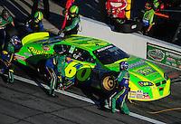 Feb 7, 2009; Daytona Beach, FL, USA; ARCA RE/MAX Series driver Patrick Sheltra (60) pits during the Lucas Oil Slick Mist 200 at Daytona International Speedway. Mandatory Credit: Mark J. Rebilas-