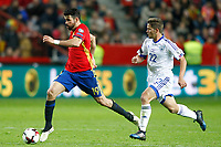 Spain's Diego Costa (l) and Israel's David Yair Keltjens during FIFA World Cup 2018 Qualifying Round match. March 24,2017.(ALTERPHOTOS/Acero) /NortePhoto.com
