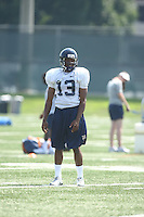 Virginia cornerback Chase Minnifield during open spring practice for the Virginia Cavaliers football team August 7, 2009 at the University of Virginia in Charlottesville, VA. Photo/Andrew Shurtleff