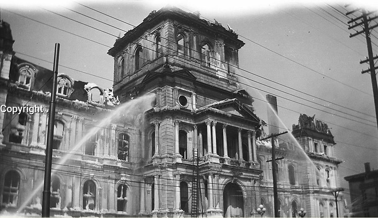 Incendie de l'hôtel de ville dans la nuit du 3 au 4 mars 1922