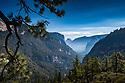 September 2014 / Yosemite National Park landscapes / Yosemite Valley View from Rte 140 / Photo / by Bob Laramie