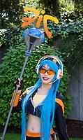League of Legends Fnatic Janna cosplayed by Azalea Lura, Pax Prime 2015, Seattle, Washington State, WA, America, USA.