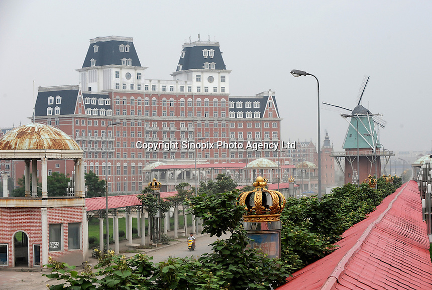 The Dutch  / Holland Village on the outskirts of Shenyang is an example of European copied architecture that has fallen into a state of disrepair.