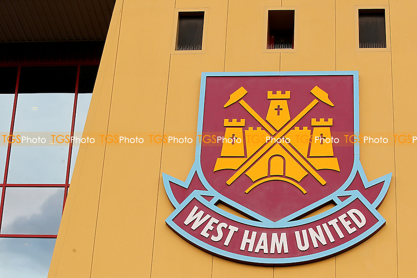 West Ham sign outside the ground ahead of West Ham United Ladies vs Tottenham Hotspur Ladies, FA Women's Premier League Football at the Boleyn Ground, Upton Park