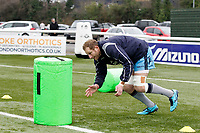 Mark Bright of London Scottish warms up during the Greene King IPA Championship match between Ealing Trailfinders and London Scottish Football Club at Castle Bar , West Ealing , England  on 19 January 2019. Photo by Carlton Myrie/PRiME Media Images