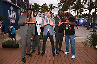 "MIAMI BEACH, FL - JANUARY 28:  (L-R) Michael Irvin, Ray Lewis, David Katz, Executive Vice President, Fox DigitalReggie Wayne, and Ed Reed discuss Fox Sports ""The ReUnion"" at the Fox Sports South Beach studio during Super Bowl LIV week on January 29, 2020 in Miami Beach, Florida. (Photo by Frank Micelotta/Fox Sports/PictureGroup)"