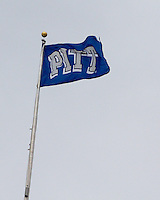 The windy day had the Pitt Flag blowing in the wind. The Pitt Panthers defeat the Rutgers Scarlet Knights 27-6 on Saturday, November 24, 2012 at Heinz Field , Pittsburgh, PA.
