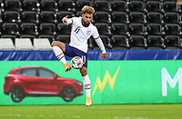 SWANSEA, WALES - NOVEMBER 12: Konrad De la Fuente #11 of the United States  traps the ball during a game between Wales and USMNT at Liberty Stadium on November 12, 2020 in Swansea, Wales.